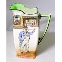 Scarce Royal Doulton 1st Issue 'Cap't Cuttle' Dickensware Water Jug