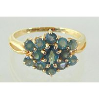 18ct Gold Alexandrite 13 Stone Ring