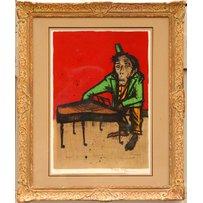 BERNARD BUFFET 'Monkey Pianist'