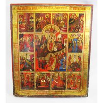 LARGE 19TH CENTURY RUSSIAN ICON
