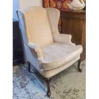 PAIR OF GEORGIAN STYLE WING ARMCHAIRS