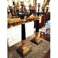 PAIR OF EMPIRE STYLE TABLE CANDELABRUM