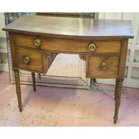 BOWFRONT DRESSING TABLE