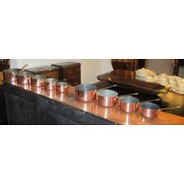 GRADUATED COPPER PANS