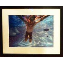 KURT COBAIN swimming under water in Los Angeles pool