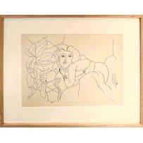 HENRI MATISSE 'Portrait of a Woman in Profile 2'. 1943