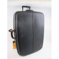 MULBERRY BLACK SCOTCHGRAIN ROLL-ALONG CASE