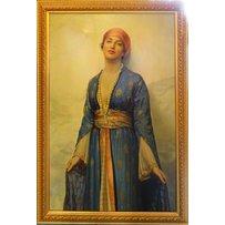 ORIENTALIST MANNER 'Lady dressed in silk robe wearing a turban'