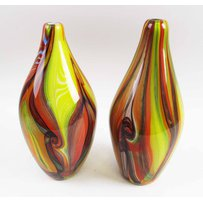 COLOURFUL GLASS VASES