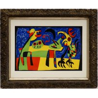 JOAN MIRO 'Dog barking at the moon'