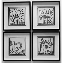 KEITH HARING 'Party' 'Snake' 'Love' and 'Kick'