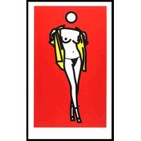 JULIAN OPIE 'Woman taking off a man's shirt'