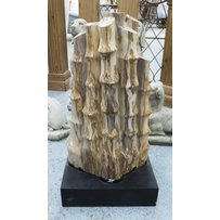 PETRIFIED BAMBOO ON STAND.