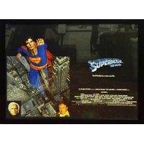 WARNER BROS 1978 'SUPERMAN THE MOVIE' LOBBY POSTER