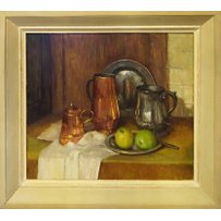 MARY REMINGTON NEAC ROI 'The Pewtor Pot'