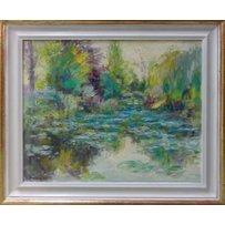 DAVID LLOYD SMITH 'Monet's Pond at Givenchy'