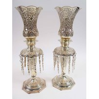 PERSIAN SILVER METAL TABLE LIGHTS
