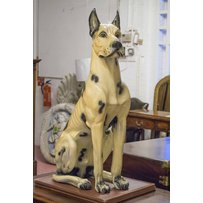 PAINTED FIGURE OF A GREAT DANE