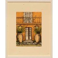 BERNARD BUFFET 'Villa with pots'