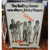 ROLLING STONES STICKY FINGERS OUT NOW NEW ALBUM POSTER