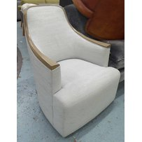 DONGHIA GEORGETTE SWIVEL LOUNGE CHAIR