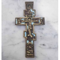 19TH CENTURY RUSSIAN WALL BLESSING CRUCIFIX