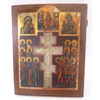 19TH CENTURY RUSSIAN CRUCIFIXION ICON