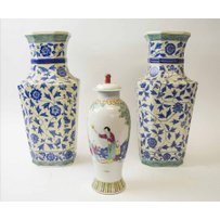 CHINESE BALUSTER VASES