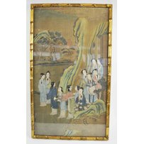 A PAIR OF CHINESE PAINTINGS ON SILK