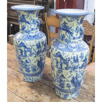 CHINESE FAMILLE JUANE HANG XI STYLE VASES
