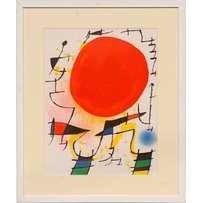 JOAN MIRO 'The Red Sun'