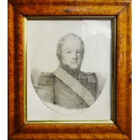 EARLY 19TH CENTURY FRENCH SCHOOL 'Portrait of Charles Henri Felicite Comte de Sapinand'