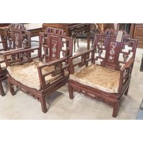 CHINESE QING DYNASTY STYLE CHAIRS