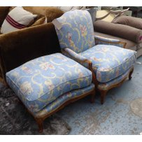 BERGERE AND FOOTSTOOL