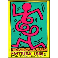 KEITH HARING yellow 'Montreaux'