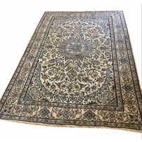 FINE PART SILK PERSIAN NAIN CARPET
