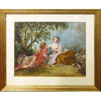 MANNER OF FRANCOIS BOUCHER 'Figures in a bucolic setting'