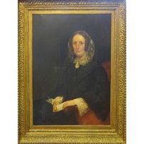 19TH CENTURY SCHOOL 'Portrait of a lady holding an unopened letter'