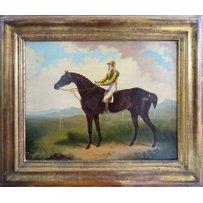 19TH CENTURY ENGLISH SCHOOL 'Jockey mounted on horse'