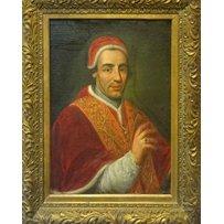 17TH CENTURY ITALIAN SCHOOL 'Portrait of Pope Clement XIV'