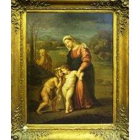 18TH CENTURY ITALIAN SCHOOL 'Mary with baby Jesus and baby John'