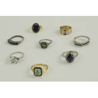 GOLD AND GEM SET RINGS