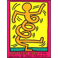 KEITH HARING pink 'Montreaux'
