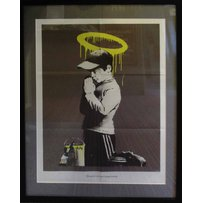 BANKSY 'Forgive us for our trespassing'