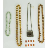 TWO ANTIQUE AMBER BEAD NECKLACES