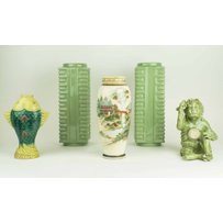 A PAIR OF CHINESE CELADON KONG VASES