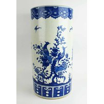 CHINESE BLUE AND WHITE STICK STAND