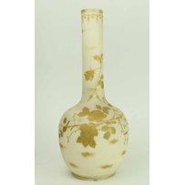 ANTIQUE FRENCH JAPONAIS STYLE GLASS VASE