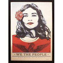 SHEPARD FAIREY 'We the people - defend dignity'