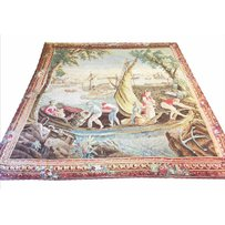 VERDUE STYLE PAINTED WALL HANGING